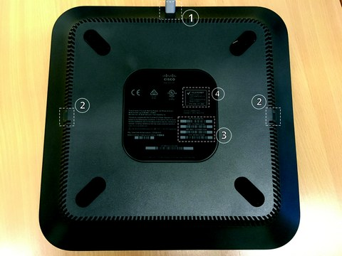 Cisco 8832 backside