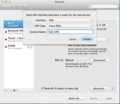 MacOSX VPN Config