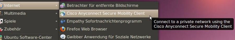 Anleitung Cisco AnyConnect für Linux — Zentrum für