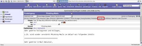Funktionalität in Horde 3 um den Mailheader anzuzeigen