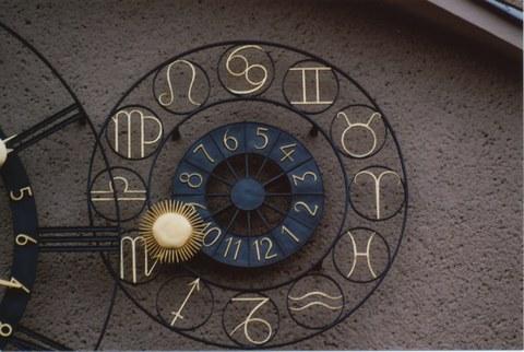 Astronomische Kunstuhr Details rechts