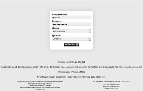 Horde Webmail Login