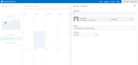 Kalender: Anzeige  Kontakt/Verzeichnis
