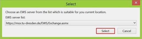 Server URL aussuchen