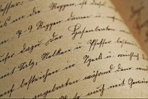Foto einer in alter Handschrift beschriebenen Seite