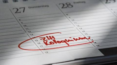 Kalender mit Termineintrag