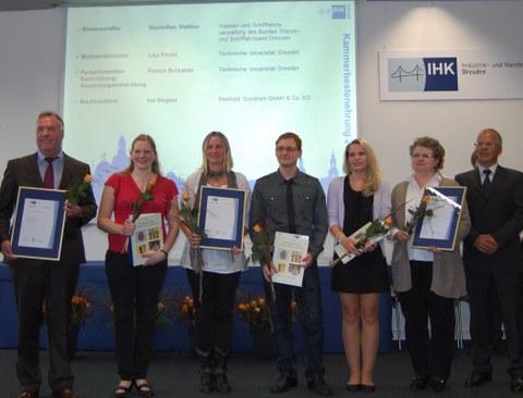Auszeichnung Sachsens beste Fachinformatiker 2013 (Foto ZIH/csch)