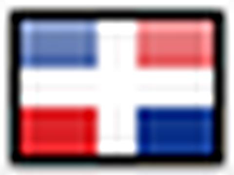 Flagge von Dominikanischer Republik