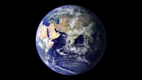 Bild der Weltkugel vor schwarzem Hintergrund