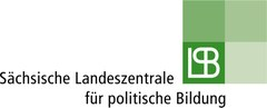 """SLPB Logobild mit Aufschrift """"Sächsische Landeszentrale für politische Bildung"""""""