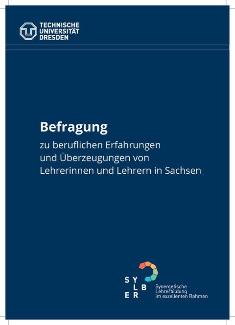 Cover des Bogens der Befragung zu beruflichen Erfahrungen und Überzeugungen von Lehrerinnen und Lehrern in Sachsen