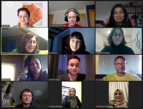 Screenshot of the participants from the zoom meeting