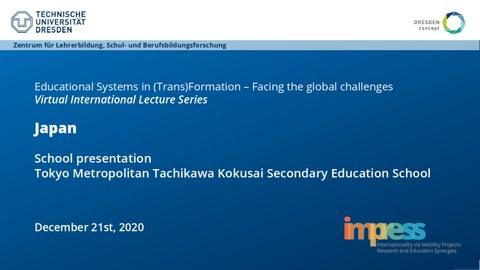Folie von Japans Schulpräsentation