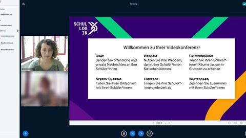 Screenshot aus einer Videokonferenz