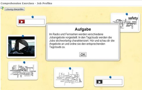 Das Bild ist ein Screenshot von LearningApps.org. Es zeigt die Startseite