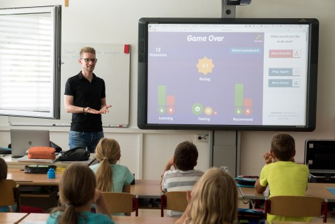 Interaktive Tafel im Klassenraum