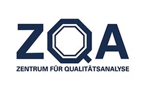 Logo des Zentrum für Qualitätsanalyse. Logo beinhaltet die Abkürzung ZQA
