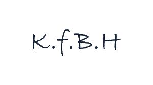 Logo KfbH. Einzelne Buchstaben als Abkürzung für Kompetenzzentrum für Bildungs- und Hochschulforschung